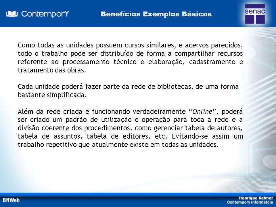 Benefícios Exemplos Básicos