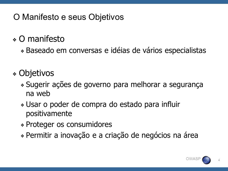 O Manifesto e seus Objetivos