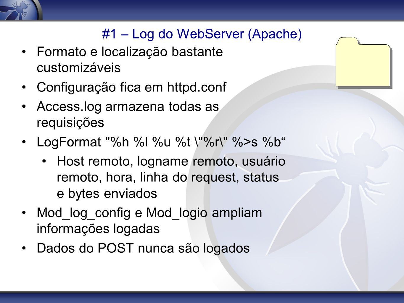 #1 – Log do WebServer (Apache)