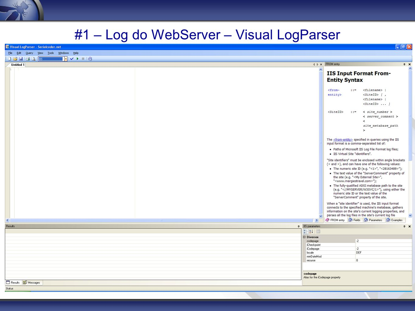 #1 – Log do WebServer – Visual LogParser