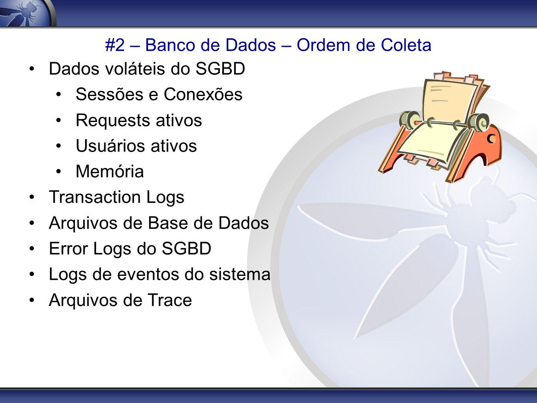 #2 – Banco de Dados – Ordem de Coleta