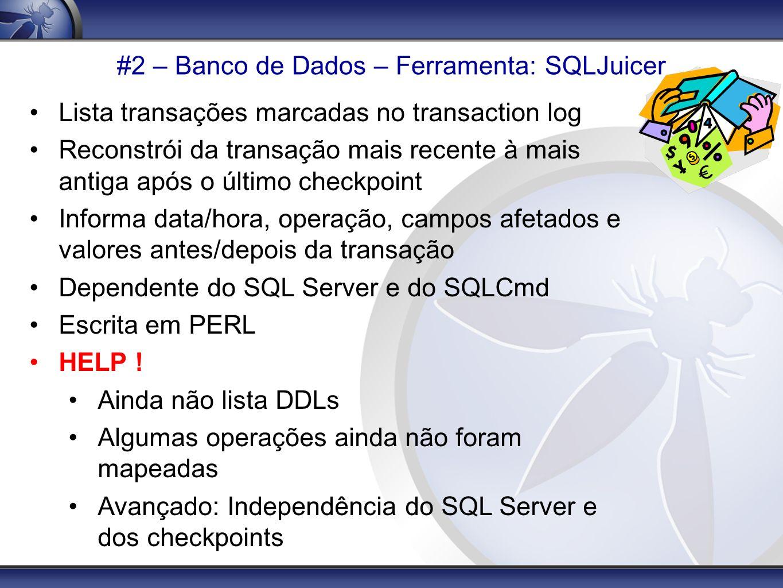 #2 – Banco de Dados – Ferramenta: SQLJuicer