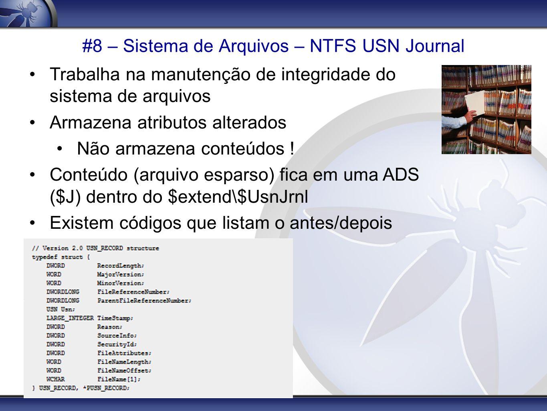#8 – Sistema de Arquivos – NTFS USN Journal