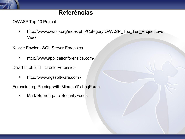Referências OWASP Top 10 Project