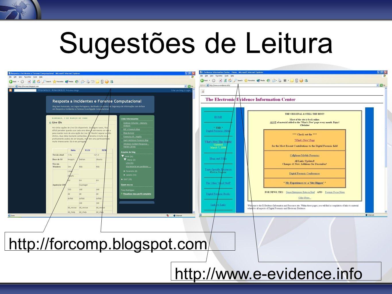 Sugestões de Leitura http://forcomp.blogspot.com