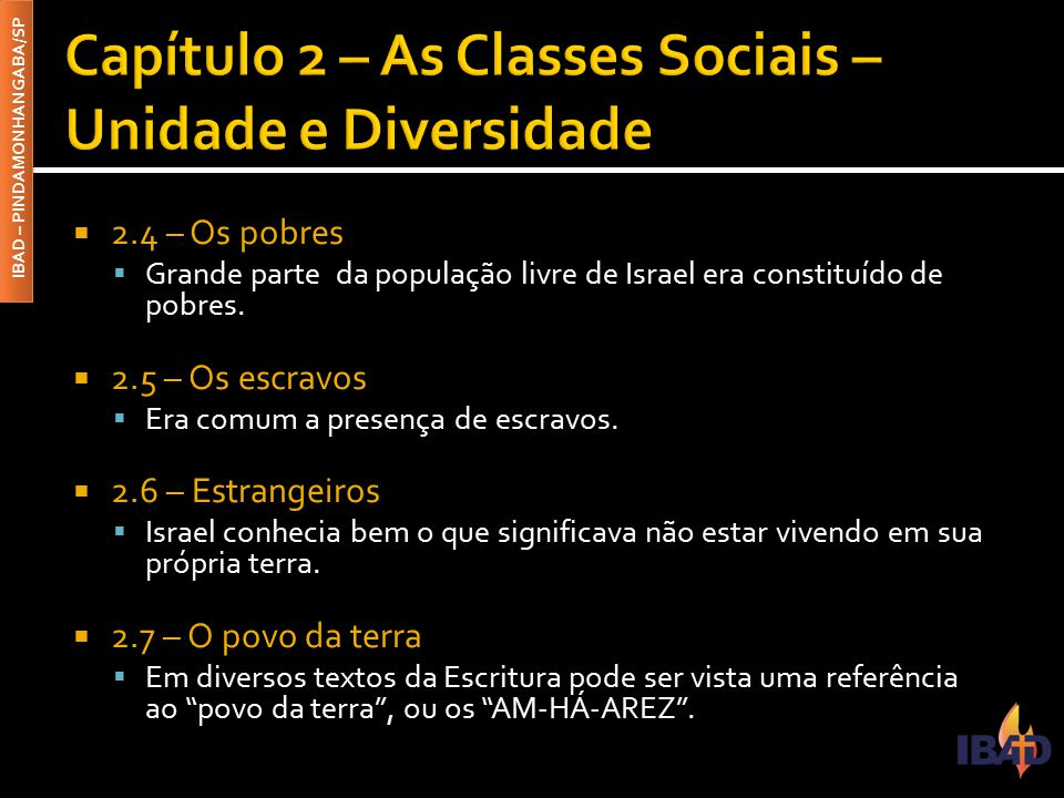 Capítulo 2 – As Classes Sociais – Unidade e Diversidade