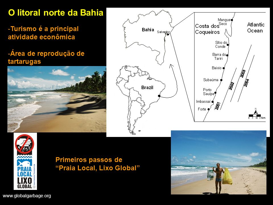 O litoral norte da Bahia