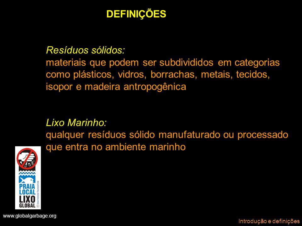 DEFINIÇÕES Resíduos sólidos: