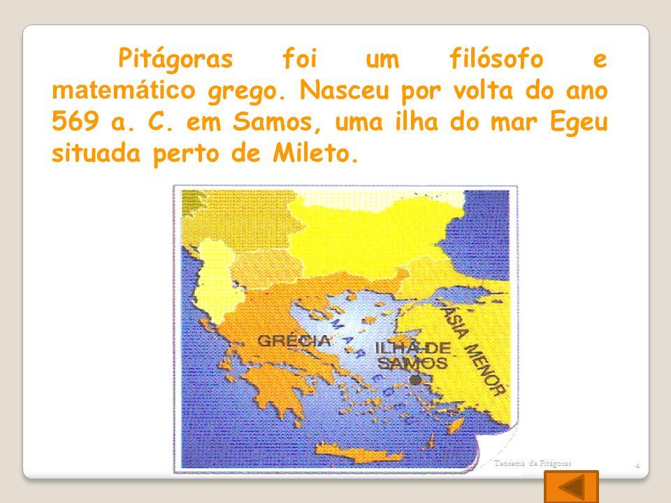 Pitágoras foi um filósofo e matemático grego