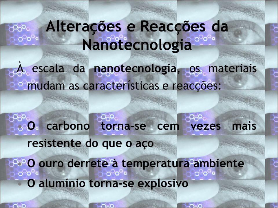 Alterações e Reacções da Nanotecnologia