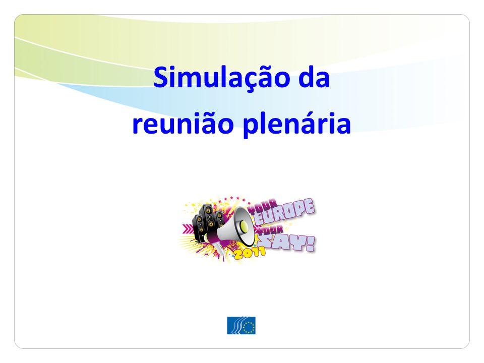 Simulação da reunião plenária