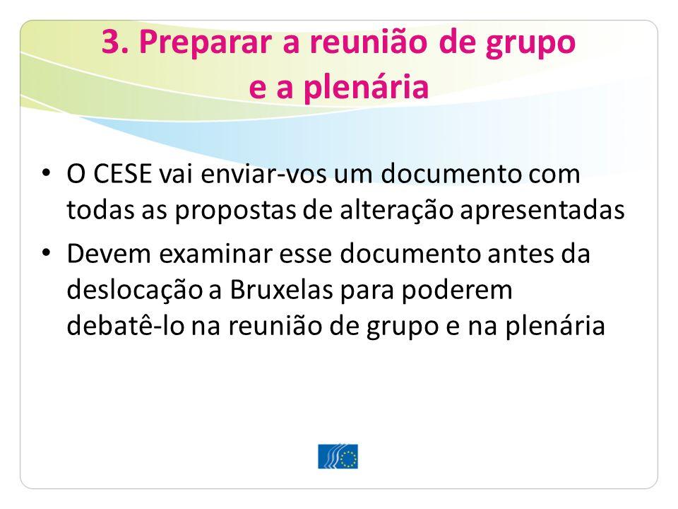 3. Preparar a reunião de grupo e a plenária