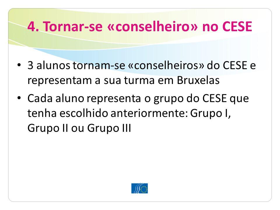 4. Tornar-se «conselheiro» no CESE
