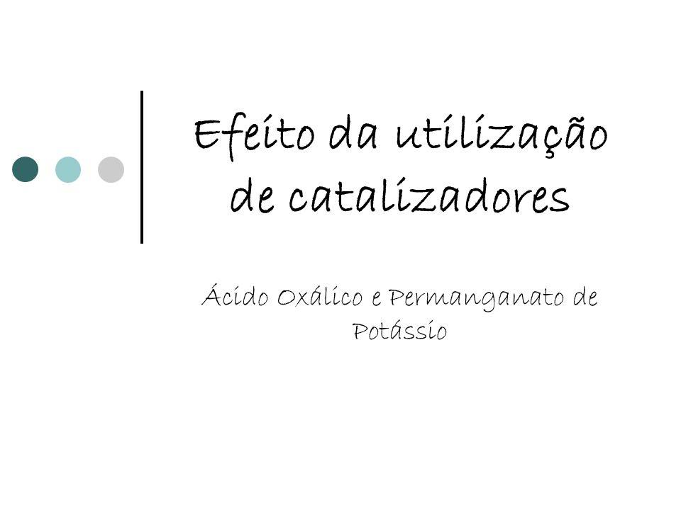 Efeito da utilização de catalizadores