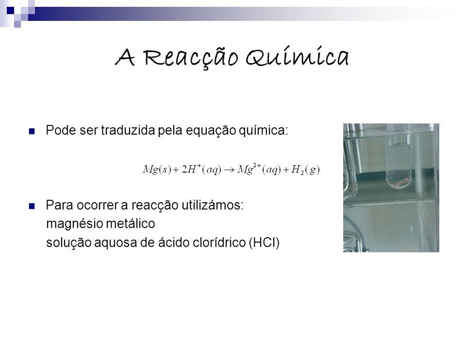 A Reacção Química Pode ser traduzida pela equação química: