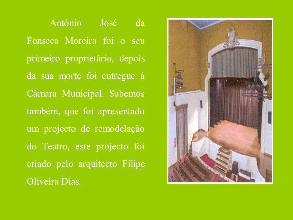 António José da Fonseca Moreira foi o seu primeiro proprietário, depois da sua morte foi entregue à Câmara Municipal.