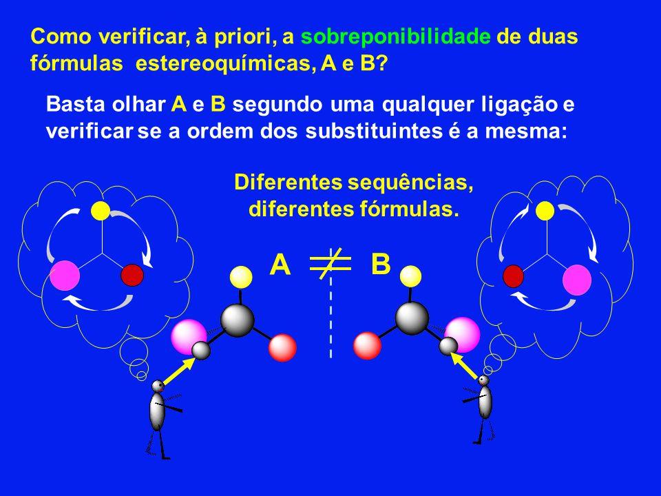 Diferentes sequências, diferentes fórmulas.