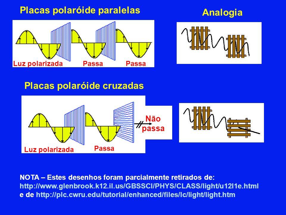 Placas polaróide paralelas Analogia