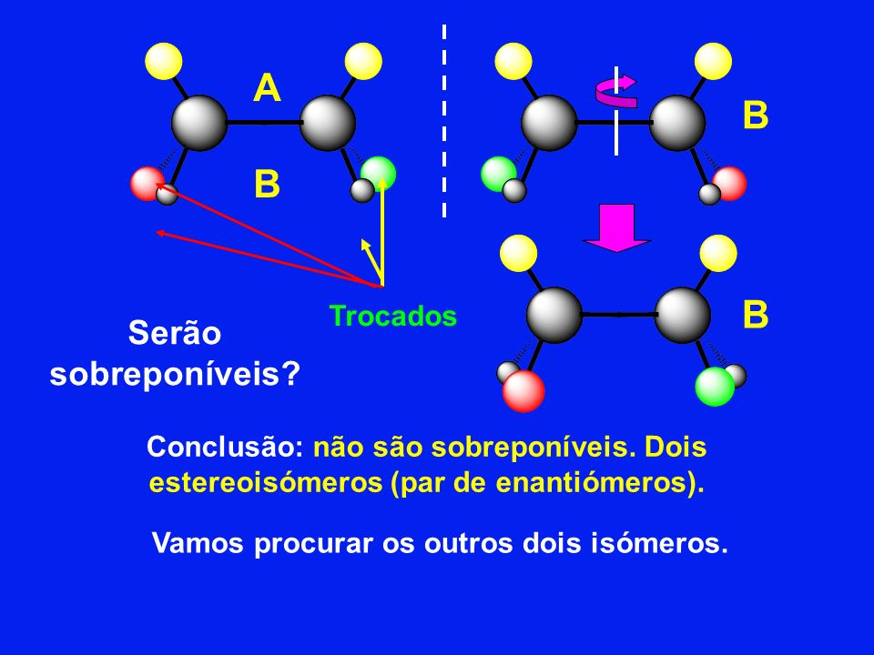 Vamos procurar os outros dois isómeros.
