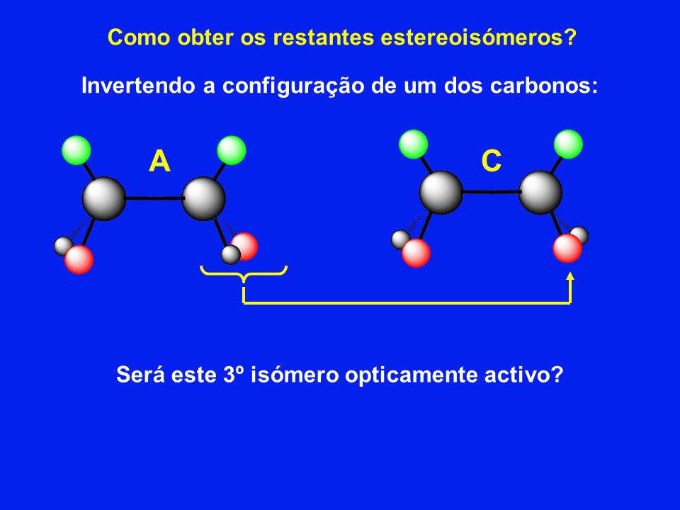 A C Como obter os restantes estereoisómeros