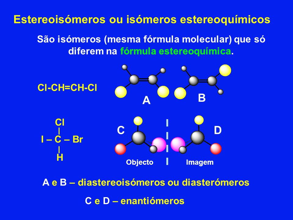 Estereoisómeros ou isómeros estereoquímicos