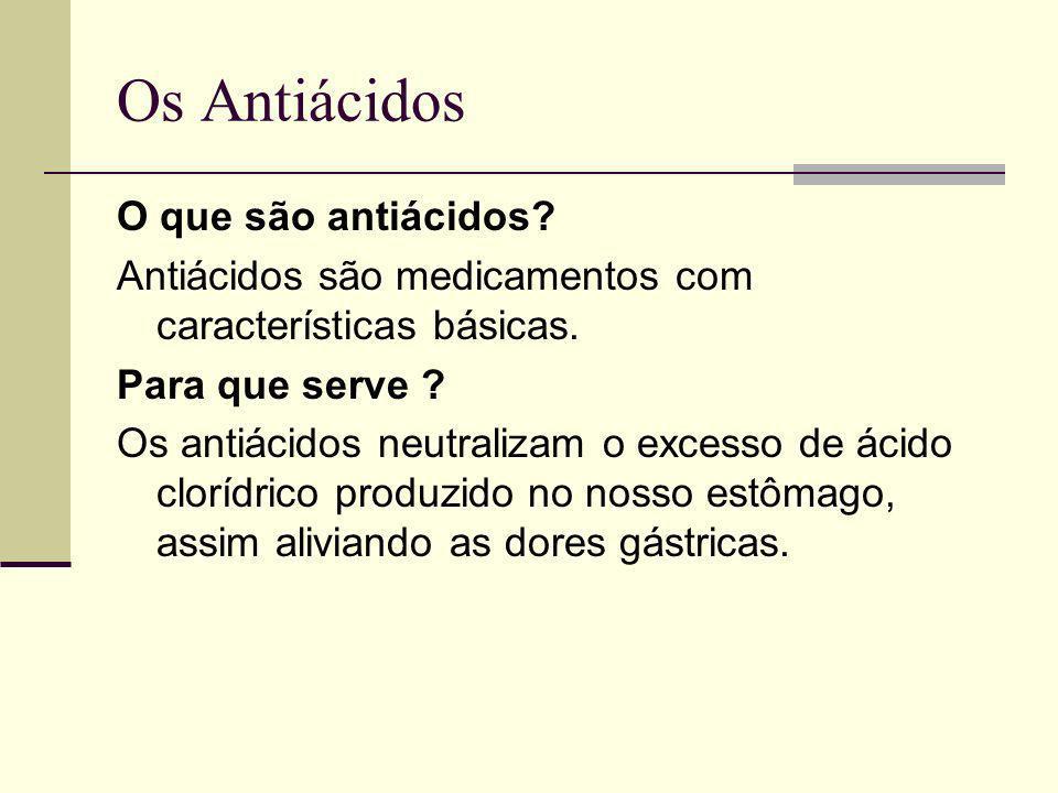 Os Antiácidos O que são antiácidos