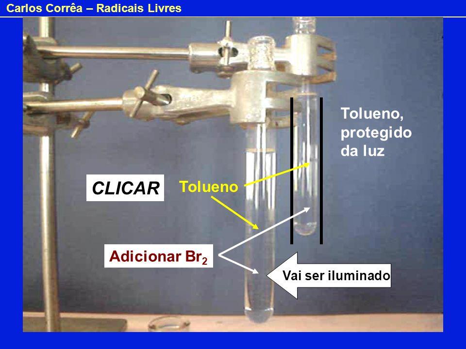 CLICAR Tolueno, protegido da luz Tolueno Adicionar Br2