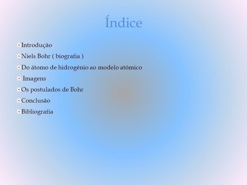 Índice Introdução Niels Bohr ( biografia )