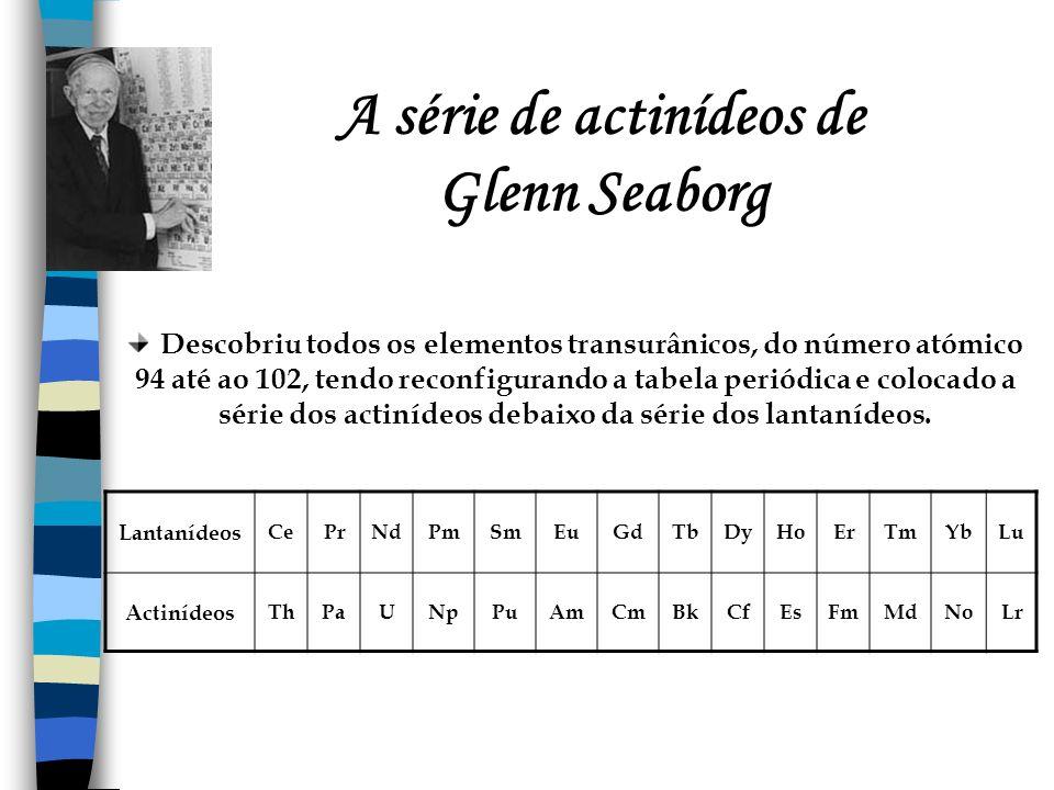 A série de actinídeos de Glenn Seaborg