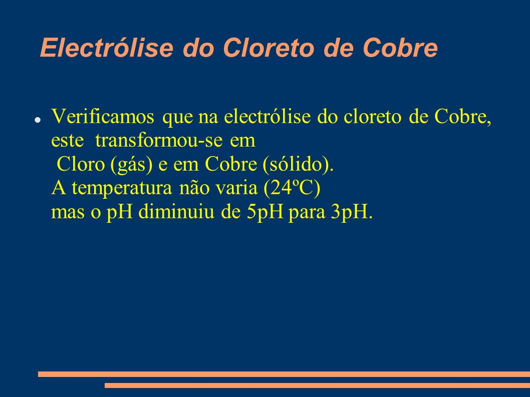 Electrólise do Cloreto de Cobre