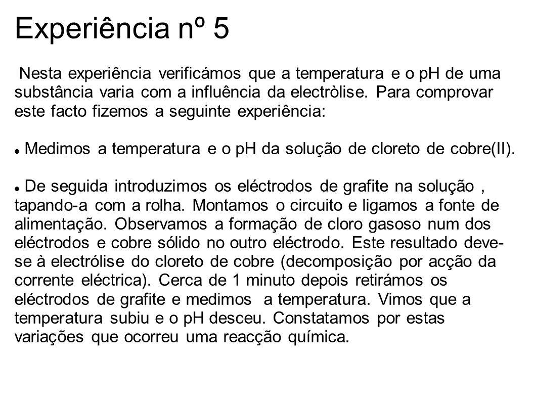 Experiência nº 5