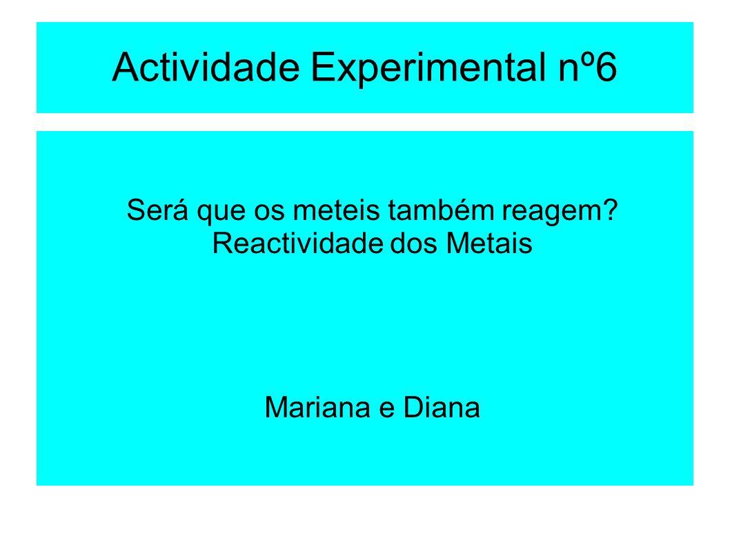 Actividade Experimental nº6