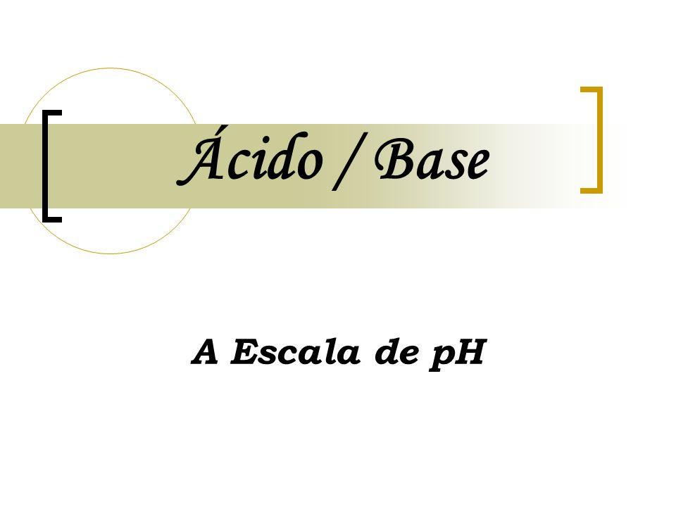Ácido / Base A Escala de pH