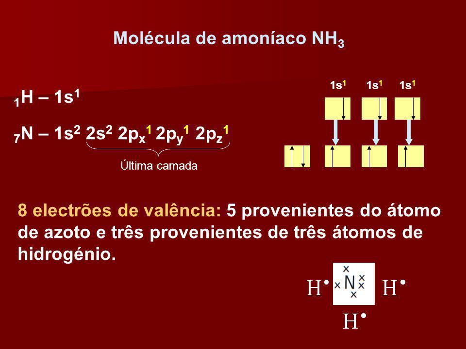 Molécula de amoníaco NH3