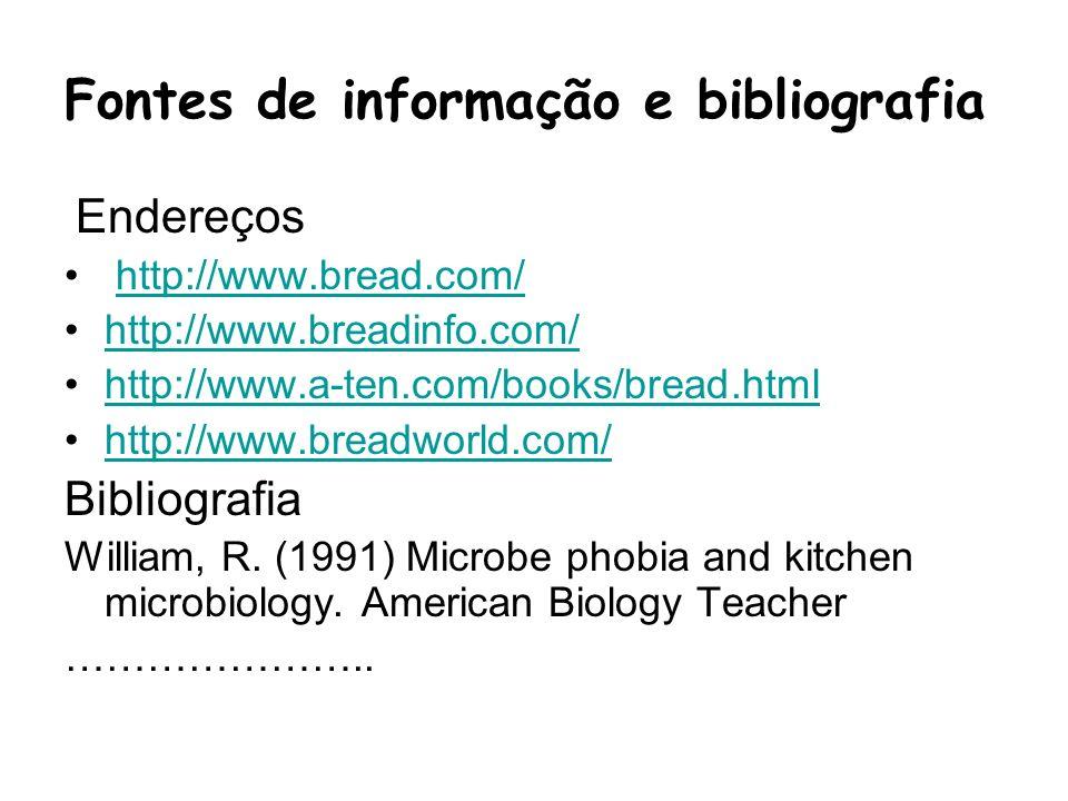 Fontes de informação e bibliografia