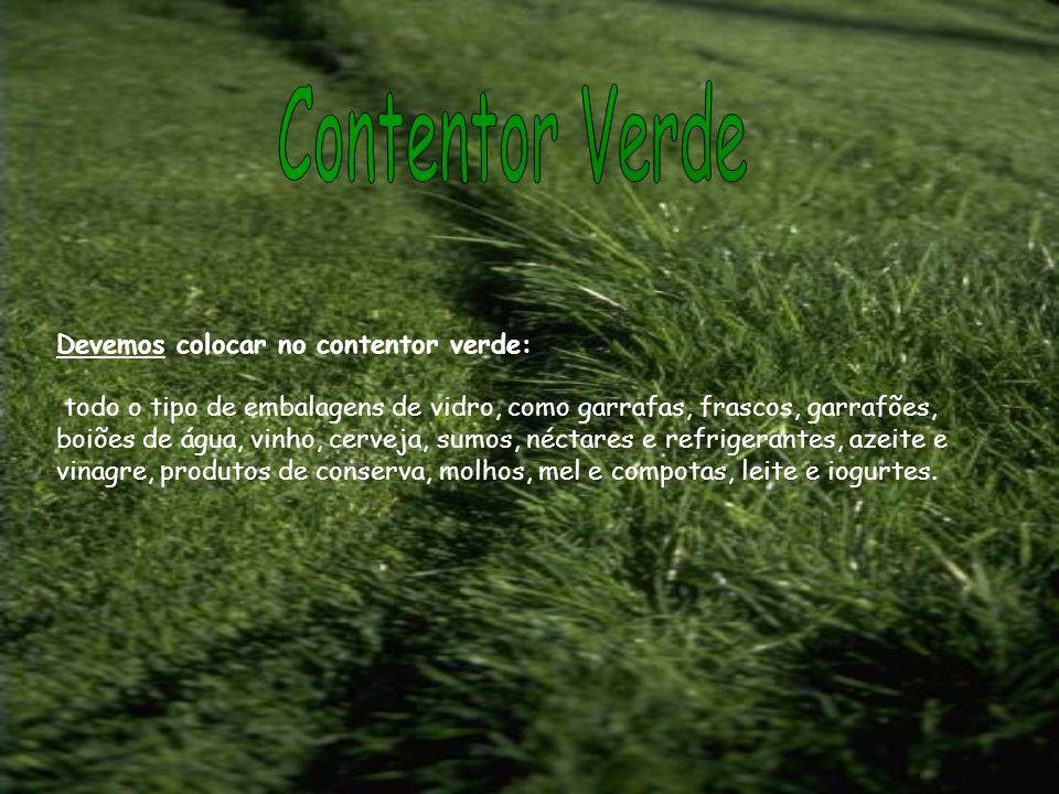 Contentor Verde Devemos colocar no contentor verde: