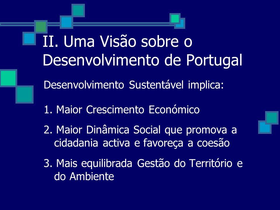 II. Uma Visão sobre o Desenvolvimento de Portugal