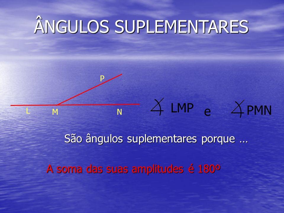 ÂNGULOS SUPLEMENTARES