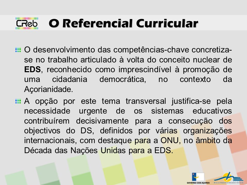 O Referencial Curricular