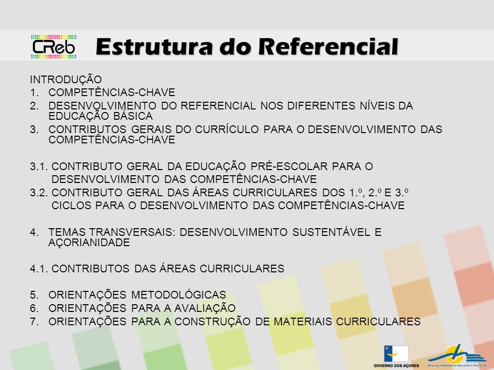 Estrutura do Referencial
