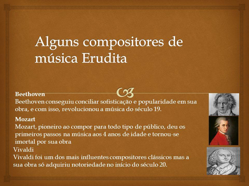 Alguns compositores de música Erudita