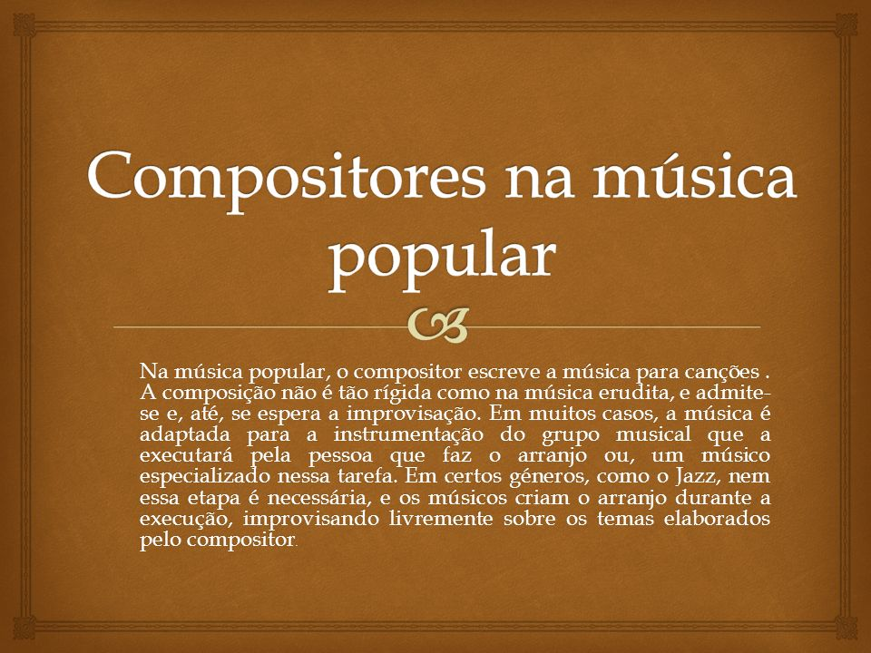 Compositores na música popular