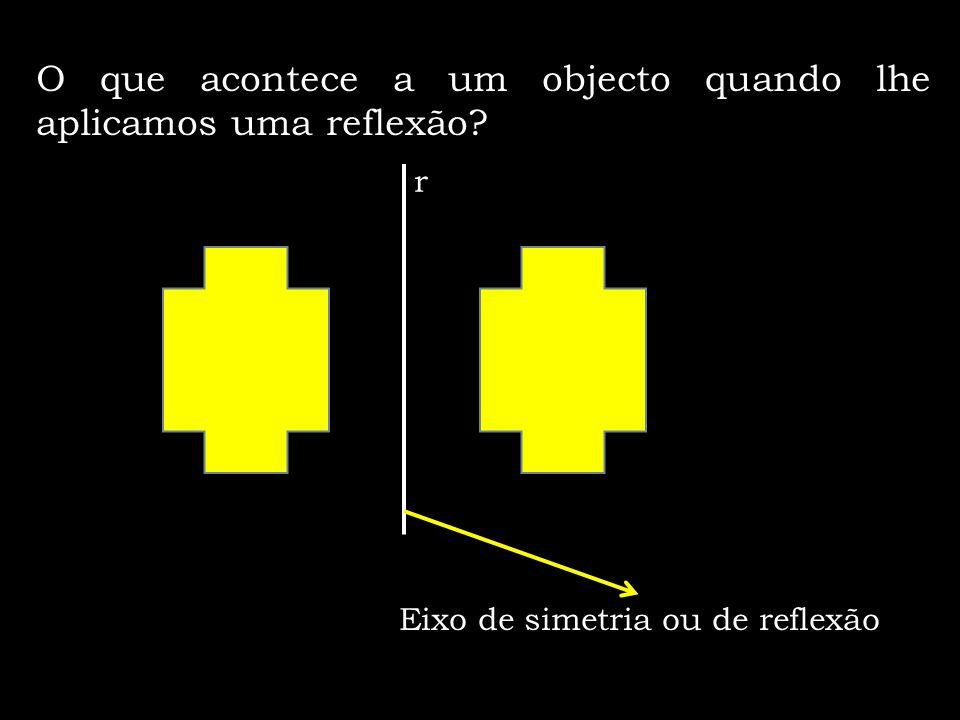 O que acontece a um objecto quando lhe aplicamos uma reflexão
