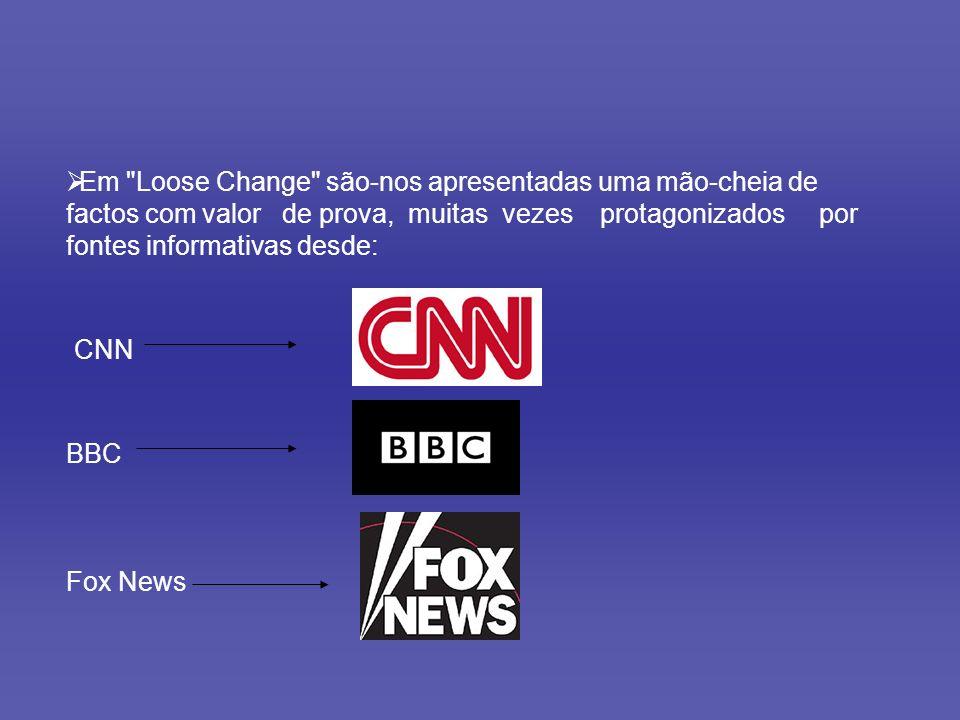 Em Loose Change são-nos apresentadas uma mão-cheia de factos com valor de prova, muitas vezes protagonizados por fontes informativas desde: