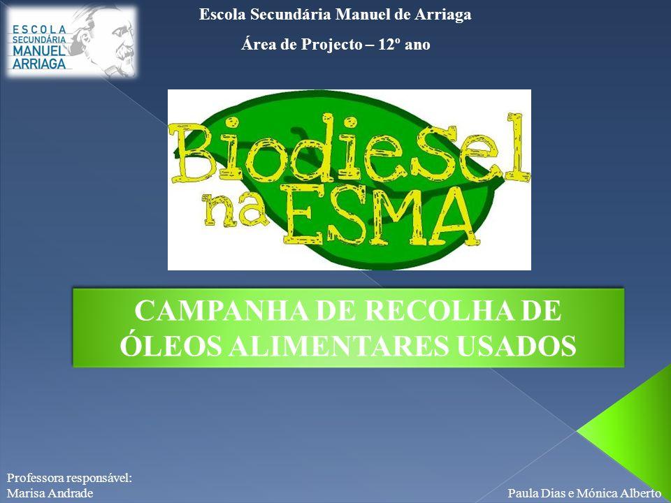 CAMPANHA DE RECOLHA DE ÓLEOS ALIMENTARES USADOS