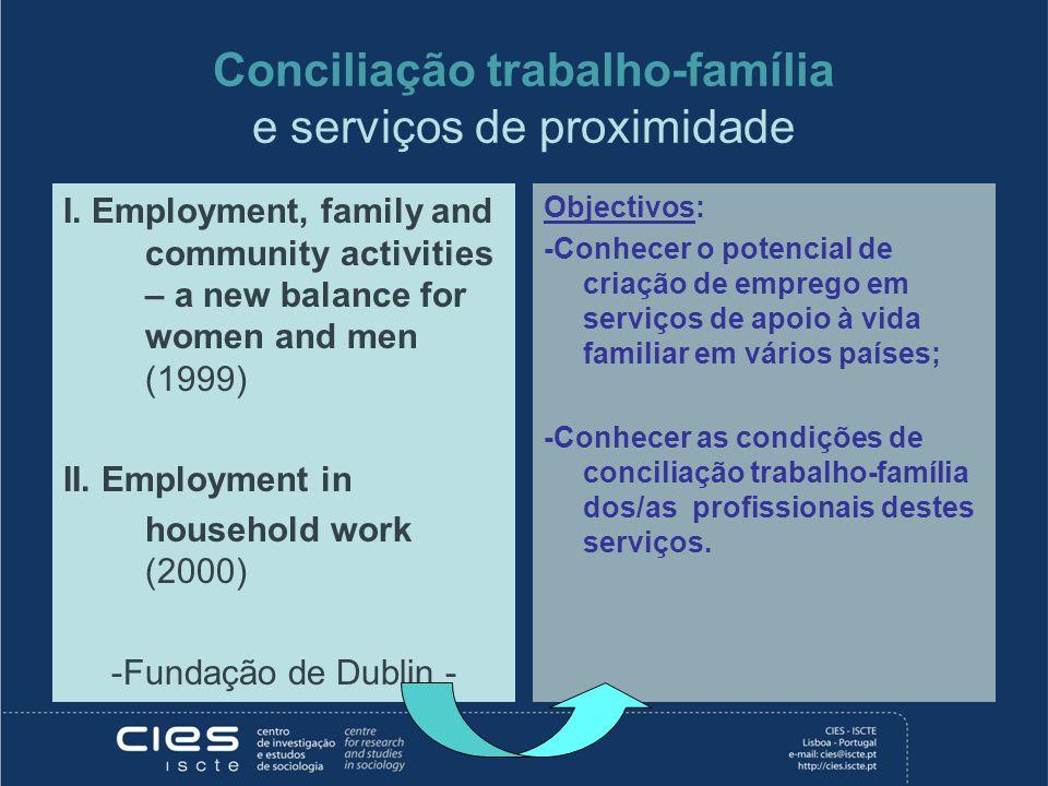 Conciliação trabalho-família e serviços de proximidade