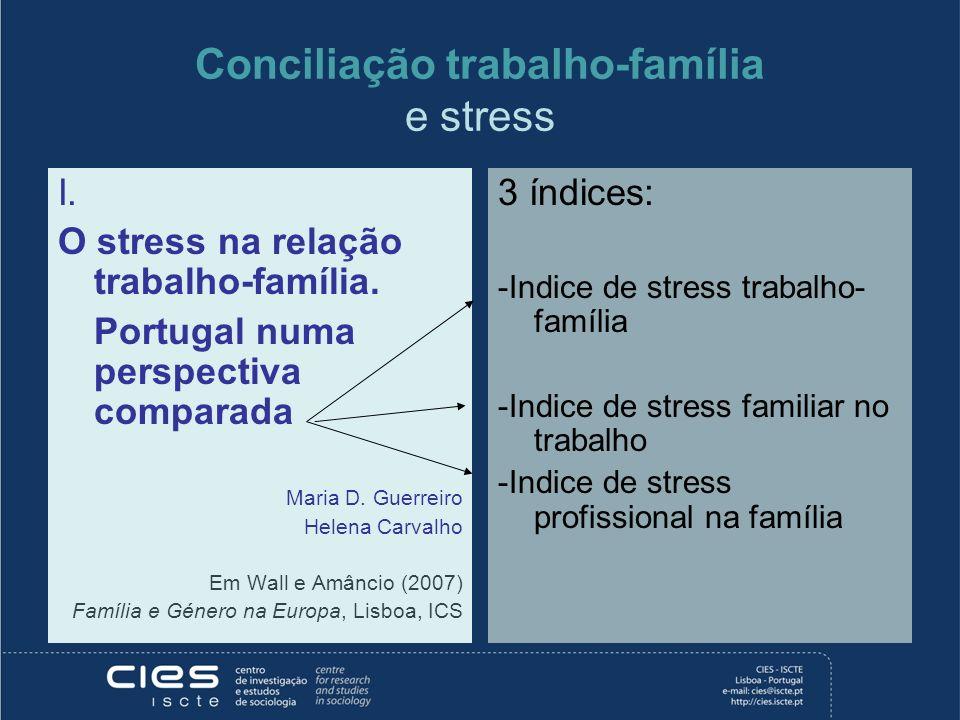 Conciliação trabalho-família e stress