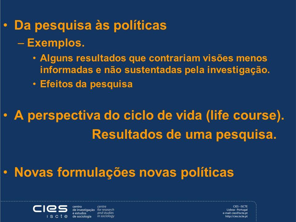 Da pesquisa às políticas
