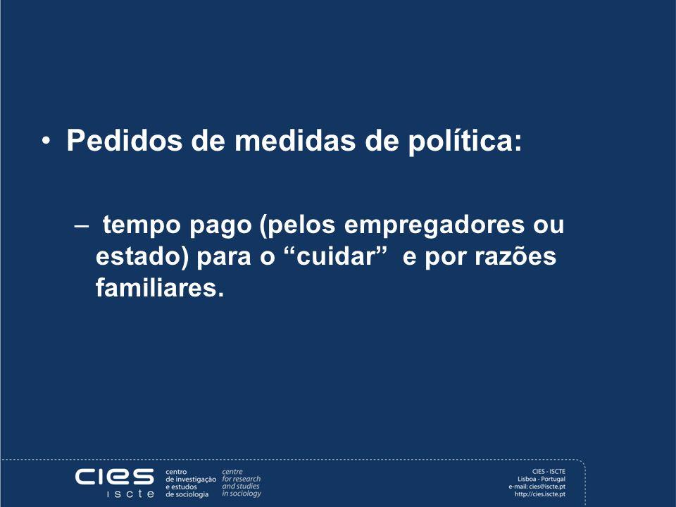 Pedidos de medidas de política: